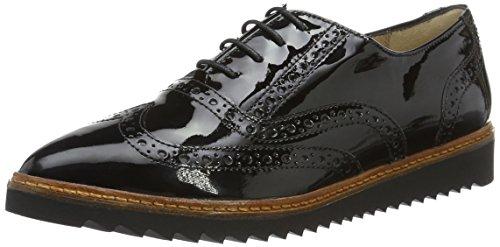 Sioux Narissa, Chaussures à Lacets Femme Noir - Noir