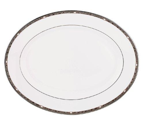 Lenox Pearl Platinum Bone China 16-Inch Platter by Lenox Lenox Pearl Platinum Bone China