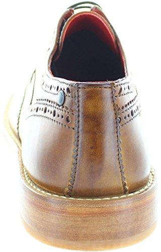 B1010 scarpa inglese BASE LONDON ANALOG vintage shoes men Tan