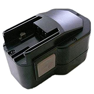 Amsahr MIL-14.4(A) 14.4 V 3000 mA NI-MH Replacement Power Tool Battery for Milwaukee 0614-20 - Black