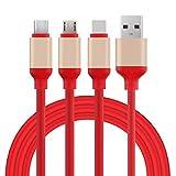 Pandiki 3 en 1 Universal TPE Carga rápida por Cable Micro USB Tipo C reemplazo de 8 Pines de Carga de línea para Xiaomi/iPhone
