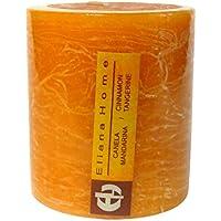Eliana Home Vela Rustica Canela Mandarina, 7 x 7.5 cm, Cera, Naranja, 7.00x7.00x7.50 cm