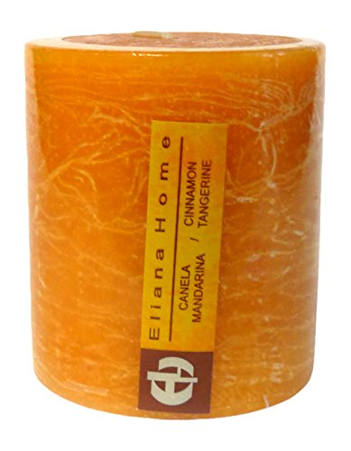 Eliana Home 673022-Kerze Rustica Zimt Mandarina, 7x 7.5cm -