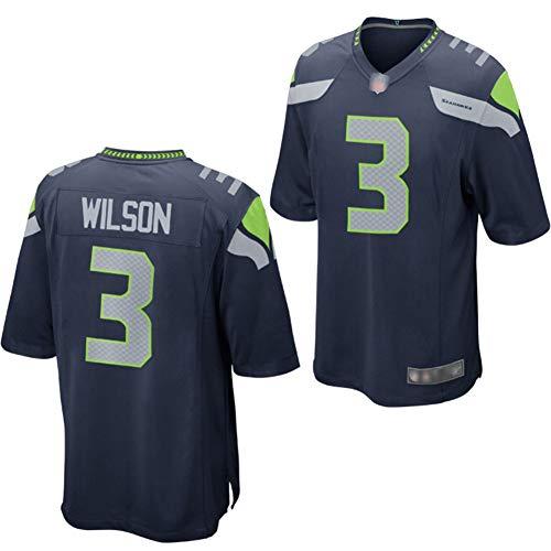 WestStory Herren Seattle Seahawks Russell Wilson College Marine Spieltrikot Fußballtrikot mit Name und Nummer Shirt-M