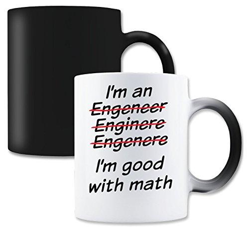 LukeTee I'm An Engineer, Enginere, Engenere. I'm Good Math Magische Tee-Kaffeetasse