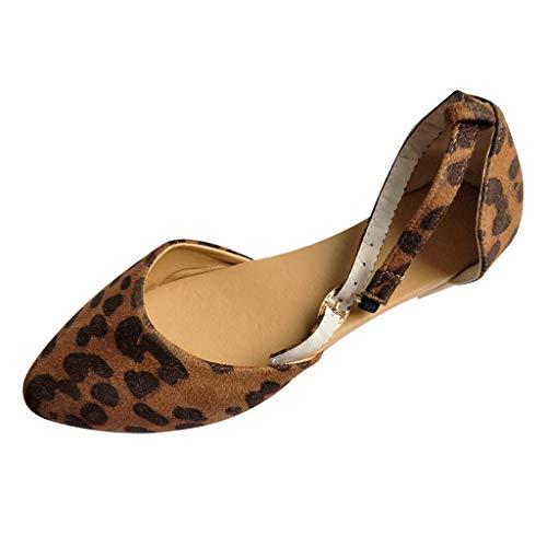 Luckycat Sandalias y Chanclas para Mujer Cuña Tacones Altos Mujeres Bombas Hebilla Correa Zapatos De Plataforma De Leopardo Zapatos Peep Toe Modelo Sandalias Y Chanclas para Playa Mujeres