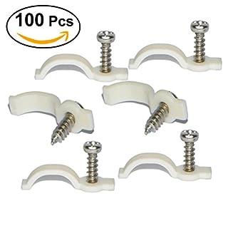 UEETEK 100 Stück Bar Licht Montagehalterungen Befestigungsclip Einseitige Befestigungsclips für 10mm LED Streifen Licht