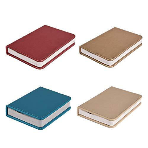 LED Klapplampe Buch USB wiederaufladbar Holz Magnet Abdeckung Home Tisch Schreibtisch Decke Deko Lampe rot ()