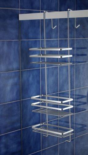 Satina scaffalatura cromata da appendere nella cabina doccia, realizzata in svezia, 79 cm - norwood