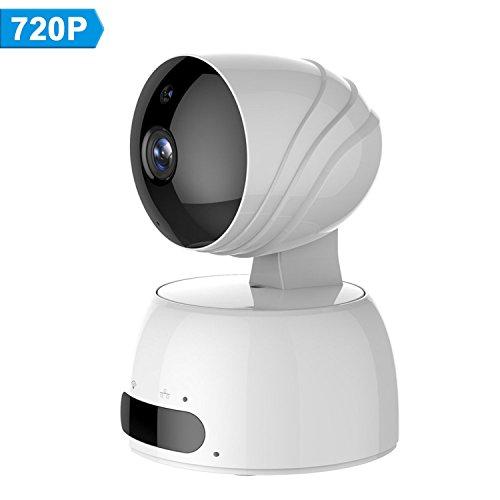 Galleria fotografica LESHP Telecamera di Sorveglianza IP camera wifi 720P HD wireless, Obiettivi Ruotabile, Audio Bidirezionale, Modalità Notturna a Infrarossi, CMotion Detection, Sicurezza Domestica, Compatibile con iOS e Android e PC