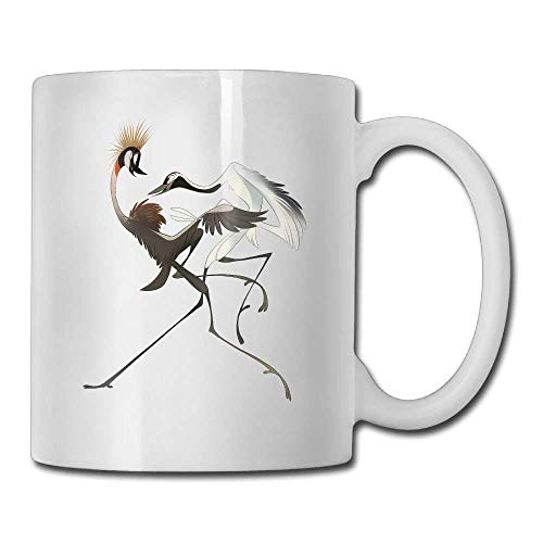Nisdsgd Birds Coffee Mug 11 Oz Mens Classic Gifts Tea Cup, The for Family and Friends, Fun White Coffee Cup 3.14W x 3.74H(8x9.5cm) 16 Oz Tall Iced Tea