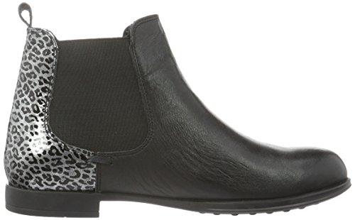 Andrea Conti Damen 0022709 Chelsea Boots Schwarz (schwarz/silber 085)