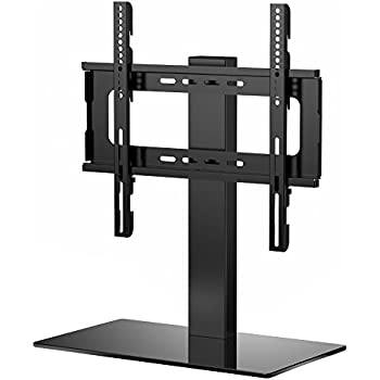 ricoo meuble tv design fs304b support sur pied en verre suspension led lcd plasma qe oled 3d 4k. Black Bedroom Furniture Sets. Home Design Ideas