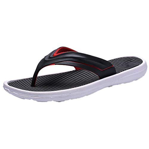 iHAZA Herren Sommer Freizeitschuhe Feste Strand Sandale Atmungsaktive Flip Flops Schuhe