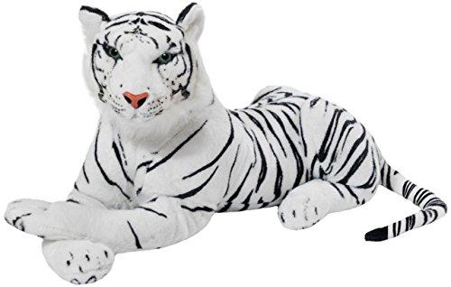 BRUBAKER Tigre bianca di peluche - 45 cm