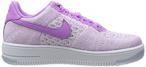 Nike W Af1 Flyknit Low, Chaussures de Sport Femme, Turquoise Rose - Fucsia (Fuchsia Glow / Fuchsia Glow)