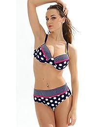Maillot de Bain Femme 2 pièces Bikini Armatures à Pois