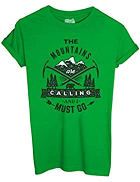 T-Shirt THE MOUNTAINS ARE CALLING - MUSH by Mush Dress Your Style