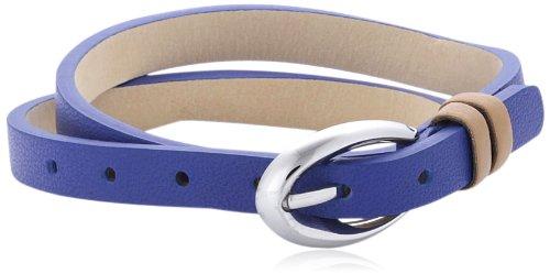 Esprit Damen Armband Edelstahl Leder 38 cm blau ESBR11336I380