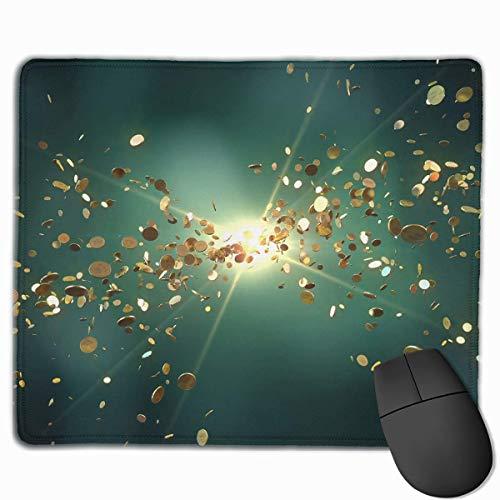 Professionelle Gaming-Mauspads Dollar Münzen Laptop Pad Rutschfeste Gummi genähte Kanten 18X22cm -