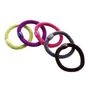 Fliyeong Samt Farbe Textur komfortable Haarring Joker Multicolor zufällig