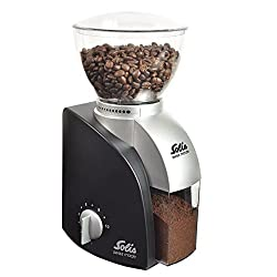 Solis 960.77 Elektrisches Kaffeemahlwerk, 13 Mahlstufen, 1-10 Tassen, Antistatikeinrichtung, Scala Classic, Schwarz, Kunststoff