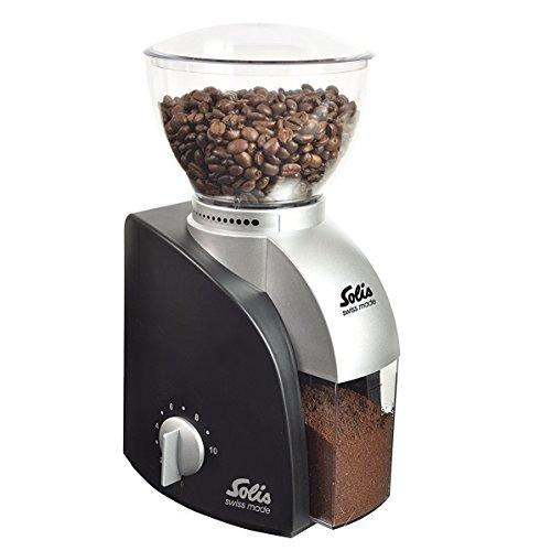 Solis Elektrisches Kaffeemahlwerk, 13 Mahlstufen, 1-10 Tassen, Antistatikeinrichtung, Scala Classic, Schwarz