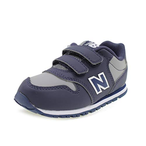 Nueva Balance KV500 VBI Azul Gris Zapatos de bebé Ganchos Zapatillas de Deporte 26