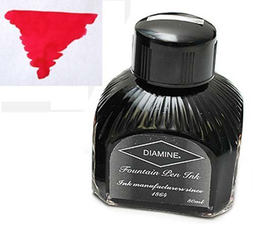 Diamine Refills Scarlet Bottled Ink 80mL - DM-7021 by Diamine -