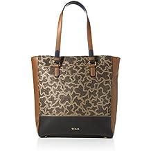 Tous Shopping Elice, Shopper para Mujer, Varios Colores (Multi / Negro), 14x32x30 cm (W x H x L)