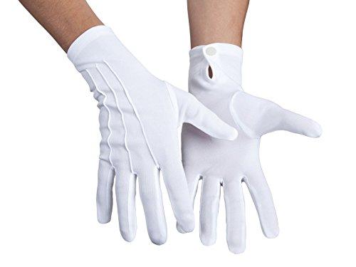 Alsino Weiße Handschuhe Basic Pantomime (03080) Zauberer für Damen & Herren - One Size Größe (Weiße Zauberer Handschuhe)