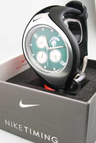 Nike Triax Swift Gorge 3I Orologio analogico NCAA Michigan State University Team – Nero/Verde – WD0100 – 009