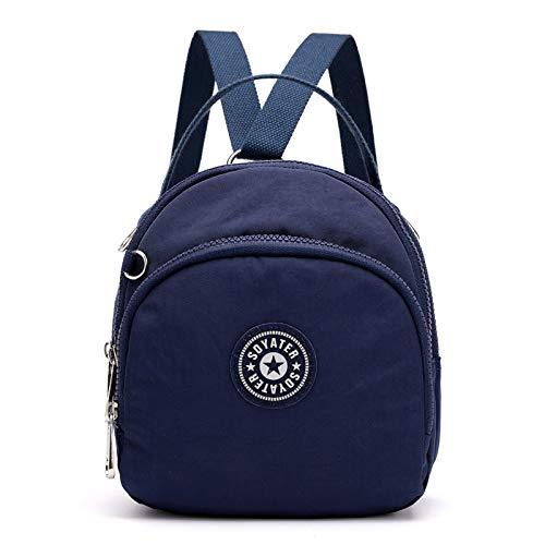 Mode Multifunktions Mini Damen Farbe Schultern kleinen Rucksack Licht Wilde Einkaufstasche blau (Vertikalen Griff Taktisches Licht)