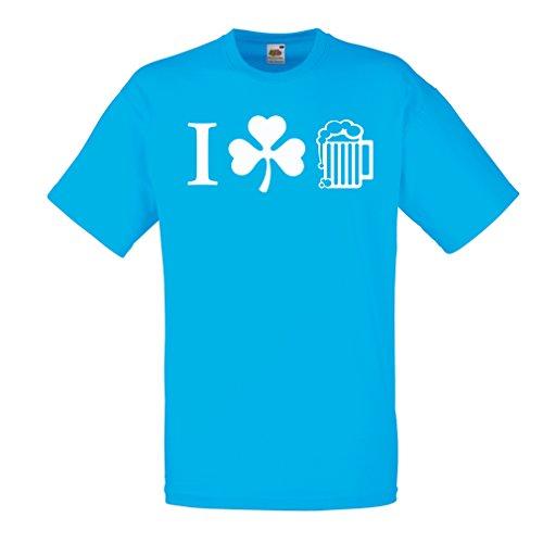 Männer T-Shirt The Symbols of St. Patrick's Day - Irish Icons (Large Blau Mehrfarben)