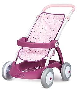 Smoby Baby Nurse 254003 - Cochecito de bebé, Color Rosa