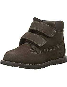 Timberland - Pokey Pine H and L, Botas Clasicas Unisex Niños, Marrón (Dark Brown Nubuck P01), 22 EU