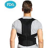 Doact Geradehalter zur Haltungskorrektur - Rücken Schulter Verstellbar Atmungsaktiv Rückenbandage Rückenhalter Haltungskorrektur für Damen und Herren (XXL=Taillenumfang Taille 114-132cm)