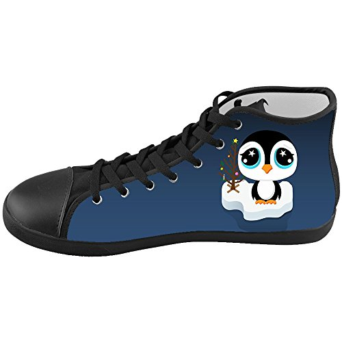 Dalliy pinguin Men's Canvas shoes Schuhe Lace-up High-top Footwear Sneakers B