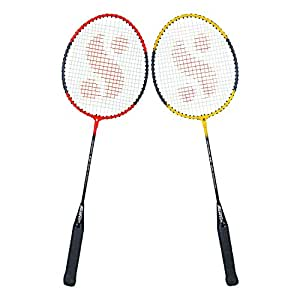 Silver's SB-100 Combo-4 (2 B/Rackets) Red-Yellow