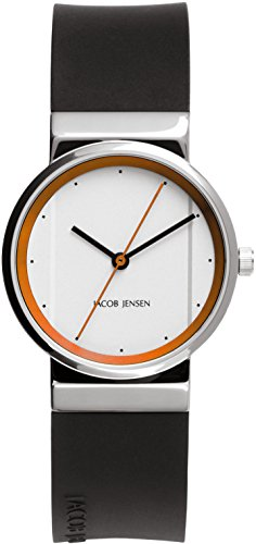 Jacob Jensen Womens Analogue Classic Quartz Watch with Rubber Strap JJ765