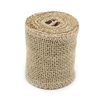 Pixnor 2M*6CM Burlap Hessian Ribbon with Lace Craft Ribbon for Craft Wedding Home Decor