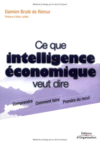 Ce que intelligence économique veut dire: Comprendre - Comment faire - Prendre du recul