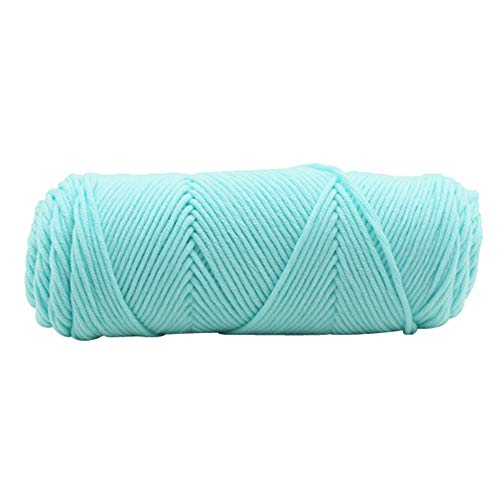 sunnymi 100g 3mm DIY Wolle Super Soft Baby Milk Cotton Wool Häkeln Hand Stricken Bunt Milch Baumwolle Geschenk Garn Strick Wolle Pullover Hüte Schals Decke (S, 3mm) Hand Stricken Baby Pullover