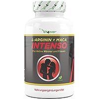 Preisvergleich für L-Arginin + Maca Intenso 240 Kapseln, 5800mg Tagesdosierung, Hochdosierte Formel für den aktiven Mann und Frau...