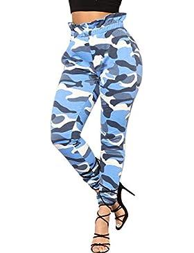 Pantalones Leggings harén para Mujer Otoño Invierno 2018 Moda PAOLIAN Casual Pantalones Ajustado Estampado Camuflaje...