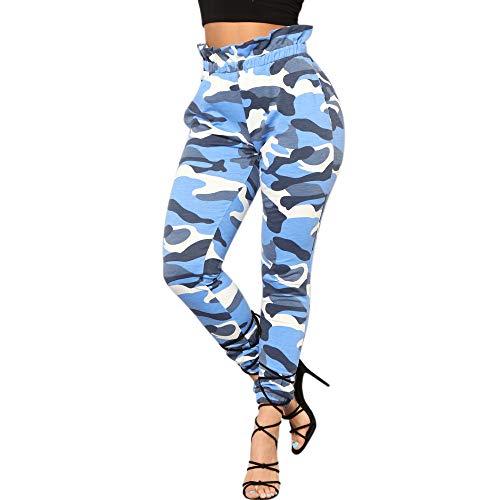 Pantalones Leggings harén para Mujer Otoño Invierno 2018 Moda PAOLIAN Casual Pantalones Ajustado Estampado Camuflaje Cintura Alta señora Pantalones Hippie Ropa para Mujer Fiesta Tallas Grandes