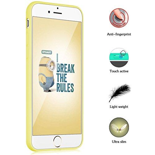 iPhone 7 Plus Hülle , iPhone 7 Plus Schutzhülle , E-Lush TPU Einfarbig Handytasche für Apple iPhone 7 Plus (5.5 Zoll) Weiche Flexible Silikon Kratzfeste Handyhülle Ultra Chic Dünn Schutzhülle Rückscha Gelb