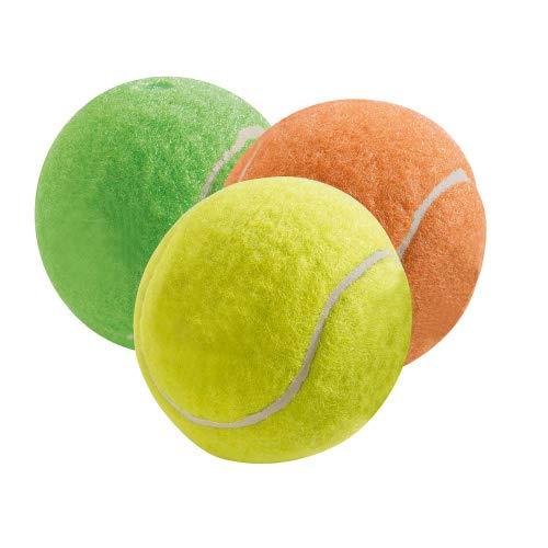 Hundespielzeug Tennisball Color, zahnfreundlich, Ø 6 cm, 3er Set