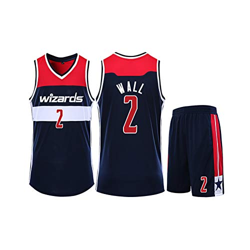 FRYP John Wall No. 2 Washington Wizards-Basketballtrikot, schnelltrocknendes Mesh-Trikot, Athletentrikot, Fan-Trikot, Support-Trikot-Royalblue-XXXXXL