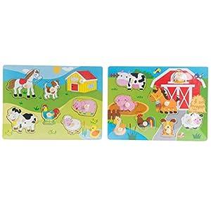 Item- Puzzle Encajes Madera Animales, (JE-145066)